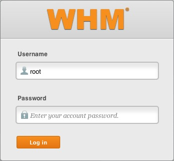 The WHM login.