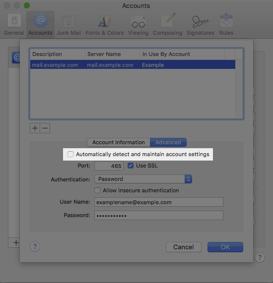 Email Application Setup - Apple Mail