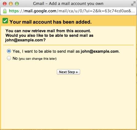 Gmail Account Created