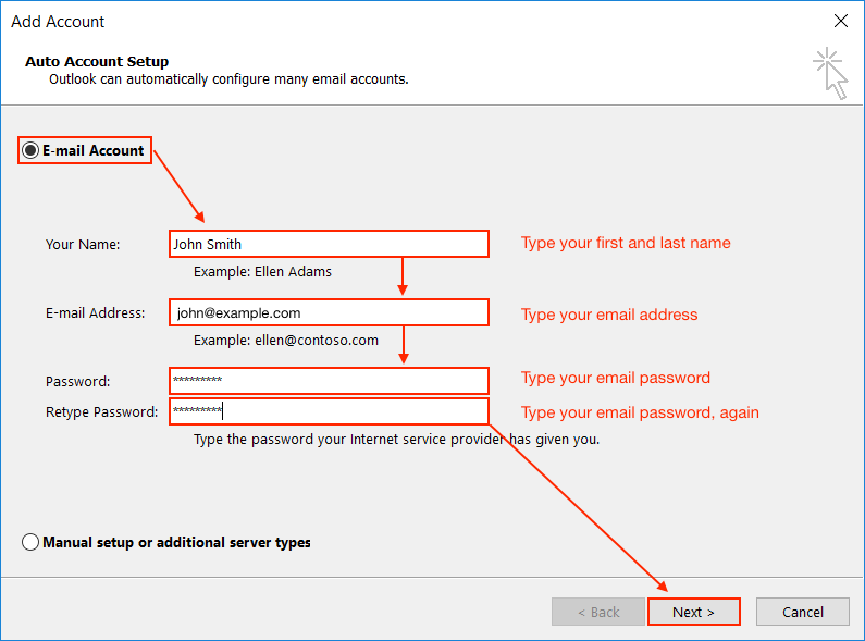 Email Application Setup - Outlook 2016 for Windows